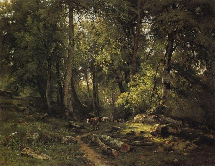 И. И. Шишкин, «Стадо в лесу», 1864 г.