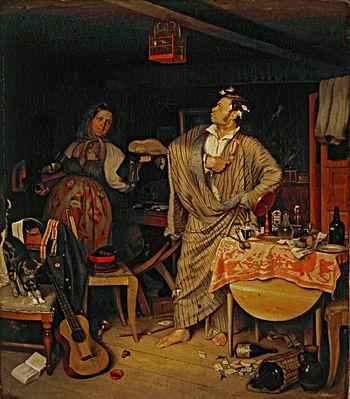 П. А. Федотов, «Свежий кавалер», 1846 г.