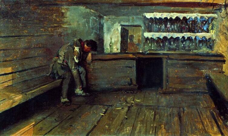 А. П. Рябушкин, «Кабак», 1891 г.