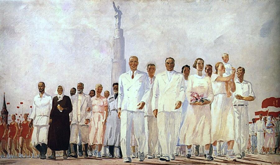 А. А. Дейнека, «Стахановцы», 1937 г.