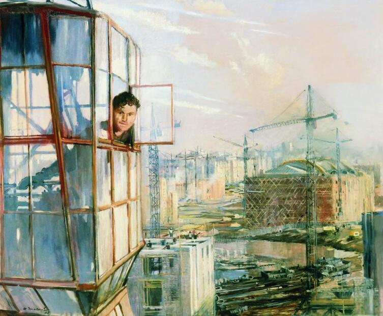 Ю. И. Пименов, «Район завтрашнего дня», 1957 г.