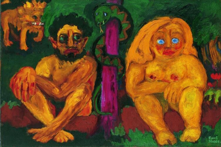 Эмиль Нольде, «Потерянный рай», 1921 г.