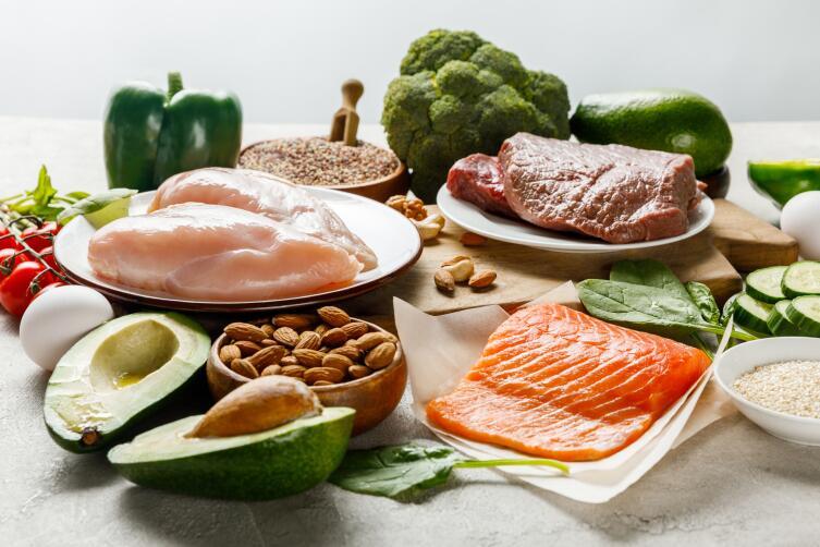 Набор продуктов приемлемый для поглощения современными поборниками здорового питания