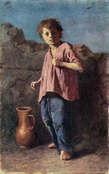 В. Г. Перов, «Мальчик, готовящийся к драке», 1866 г.