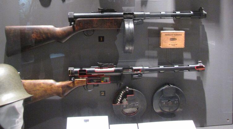 Пистолет-пулемёт Suomi с магазином на 70 патронов
