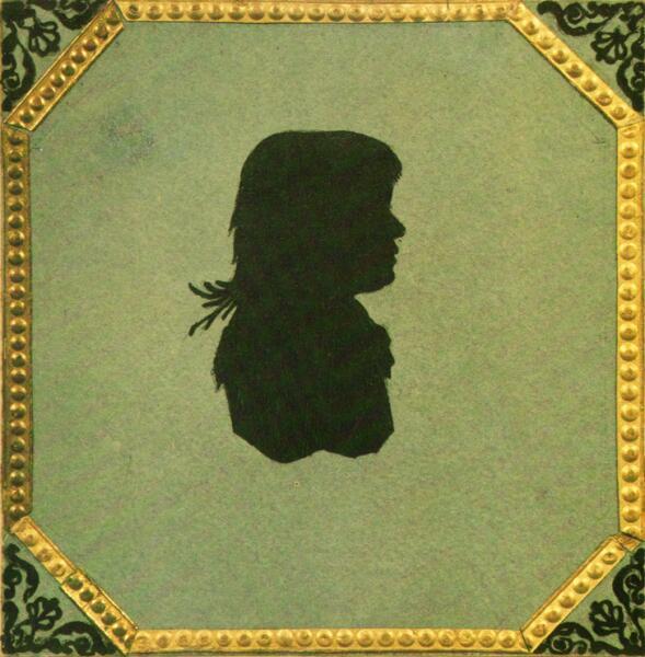 Силуэт М. Н. Волконской — единственное изображение матери писателя, 1810-е гг.