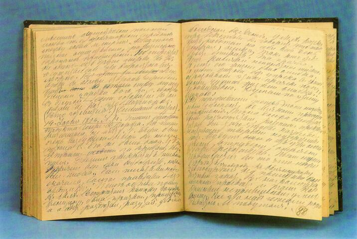 Свой дневник Л. Н. Толстой вёл с юных лет до конца жизни. Записи из тетради 1891—1895 гг.