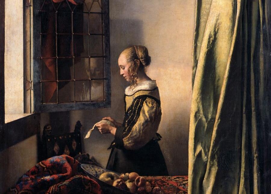 Ян Вермеер, «Девушка с письмом у открытого окна» (фрагмент), 1650-е гг.