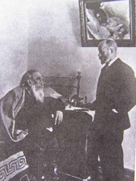 Лев Толстой и Душан Маковицкий