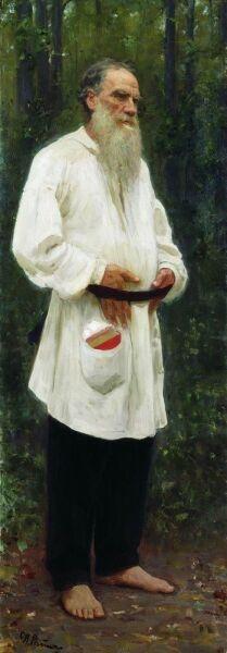 И. Е. Репин, «Лев Николаевич Толстой босой», 1901 г.