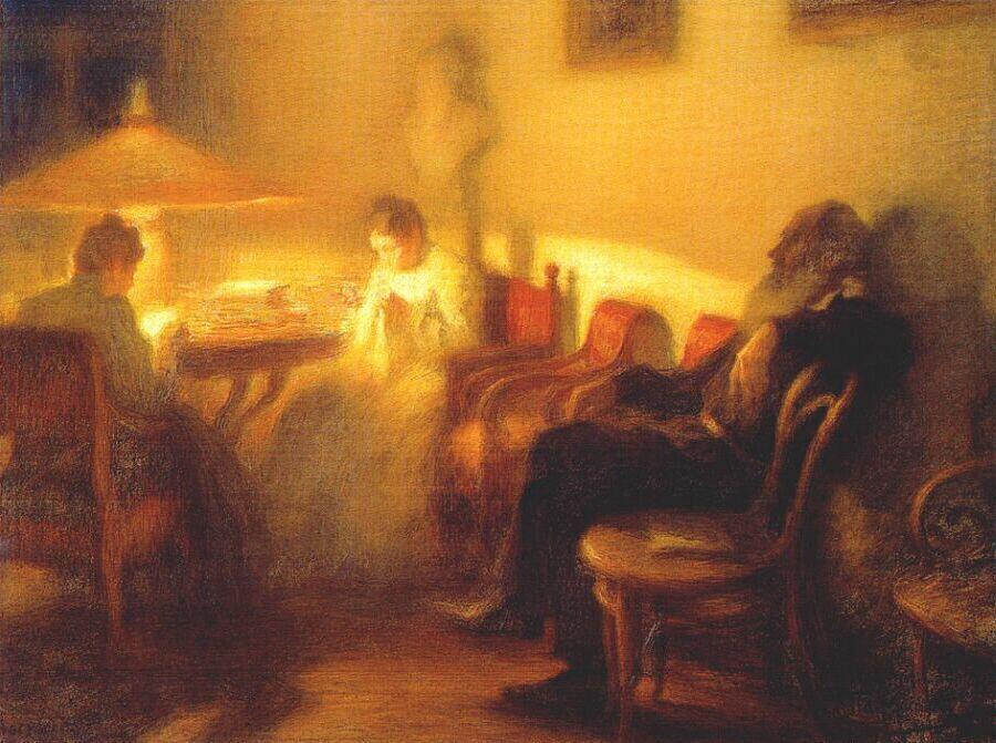 Л. О. Пастернак, «Лев Толстой с семьей в Ясной Поляне»