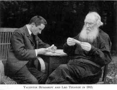 Толстой, Лев Николаевич и Булгаков, Валентин Фёдорович, 1910 год