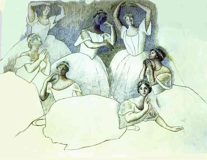 Пабло Пикассо, «Группа танцовщиц», 1920 г.