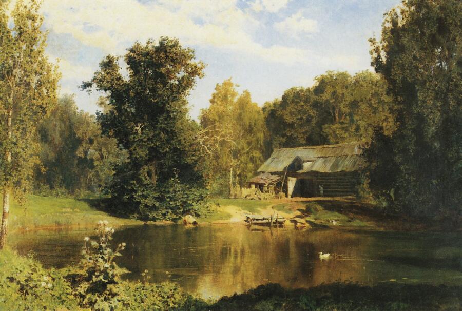 В. Д. Поленов, «Пруд в Абрамцеве», 1883 г.