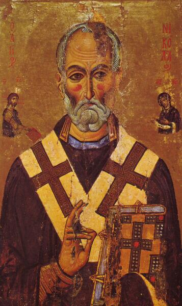 Святитель Николай, икона из монастыря Святой Екатерины, XIII век
