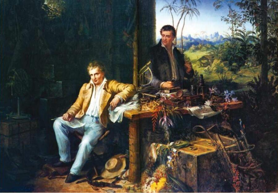 Эдуард Эндер, «Гумбольдт и Бонплан в амазонских джунглях», 1850 г.