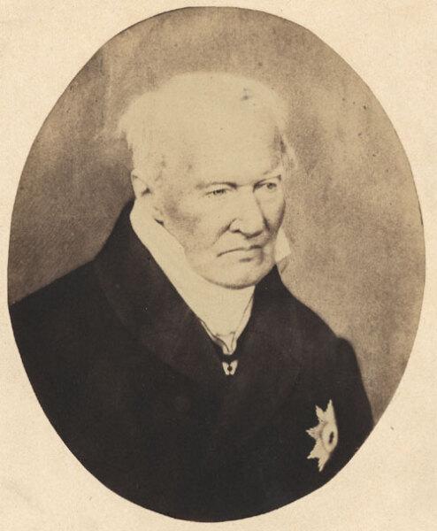 Александр фон Гумбольдт, 1857 г.