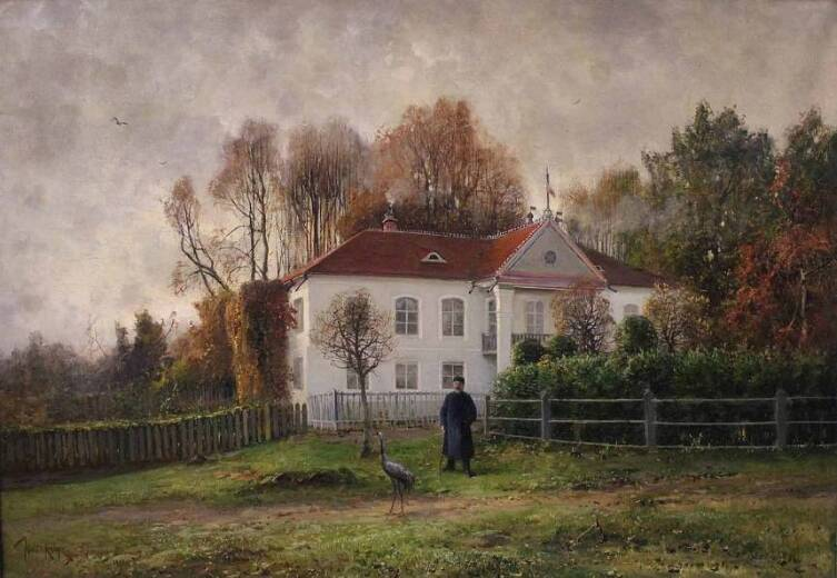 Ю. Ю. Клевер, «Белорусский пейзаж. Усадьба Дречелуки», 1901 г.