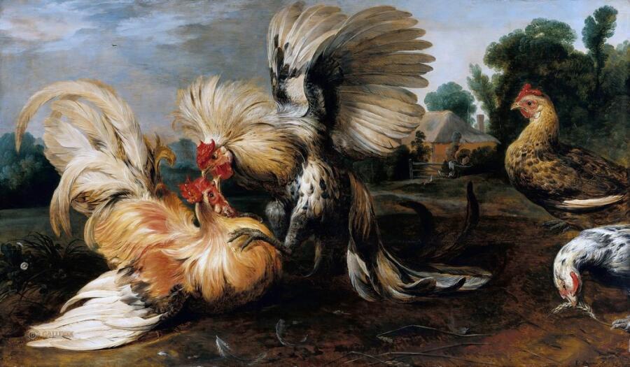 Франс Снейдерс, «Петушиный бой», 1615 г.