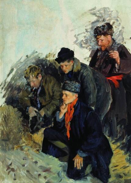 И. С. Куликов, «Петушиный бой. 1938 Этюд»
