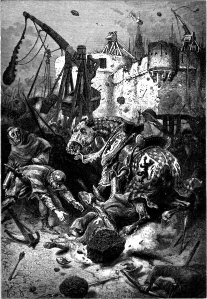 Альфонс де Невиль, «Смерть Симона Де Монфора во время осады Тулузы»