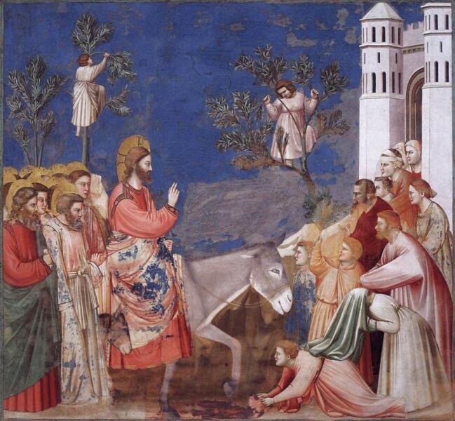 Джотто ди Бондоне, «Вход Господень в Иерусалим. Сцены из жизни Христа», 1306 г.
