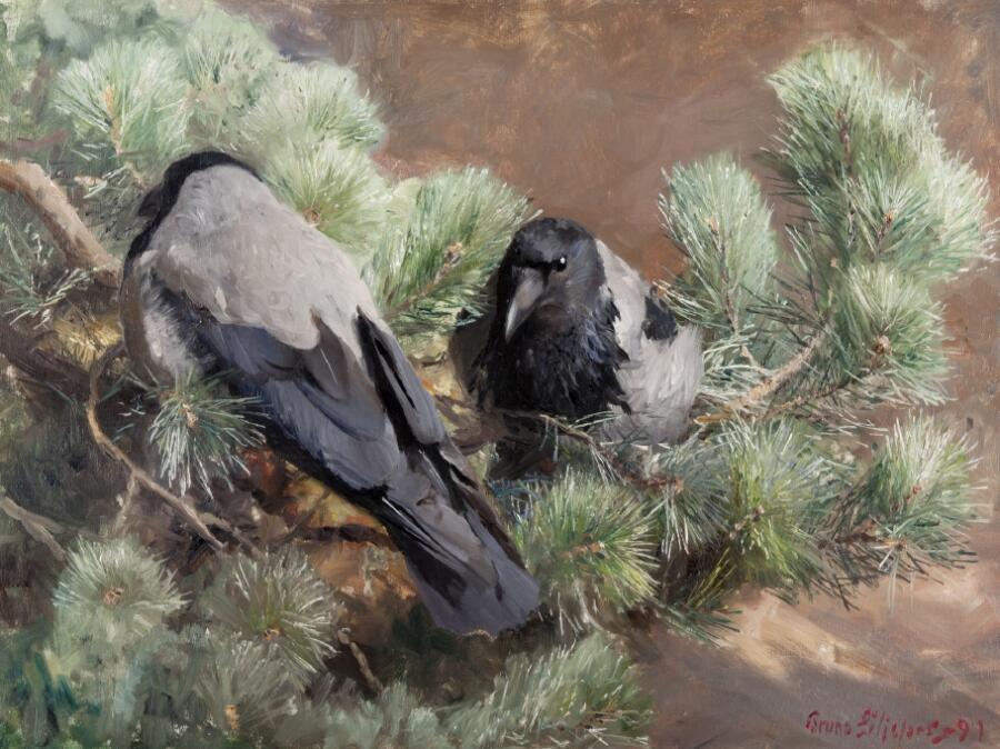 Бруно Лильефорс, «Вороны», 1891 г.