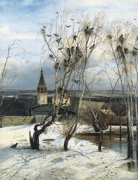 А. К. Саврасов, «Грачи прилетели», 1871 г.
