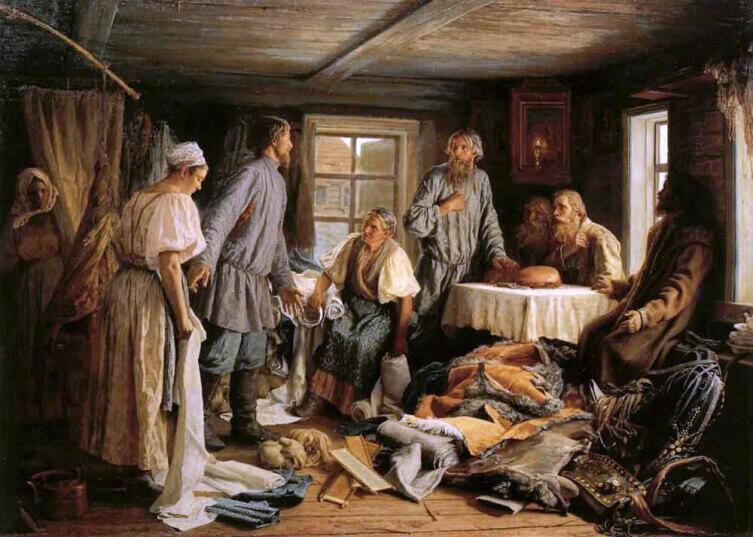 В. М. Максимов, «Семейный раздел», 1876 г.
