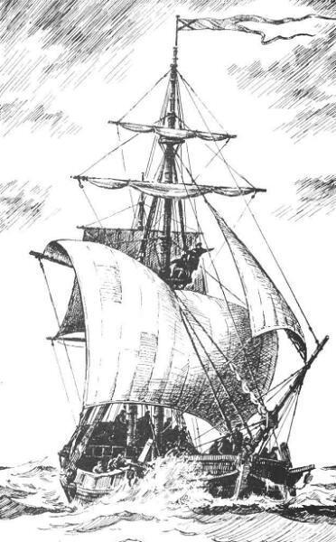 Гукор «Святой Пётр» был построен участниками Второй камчатской экспедиции на острове Беринга из разбившегося одноимённого пакетбота