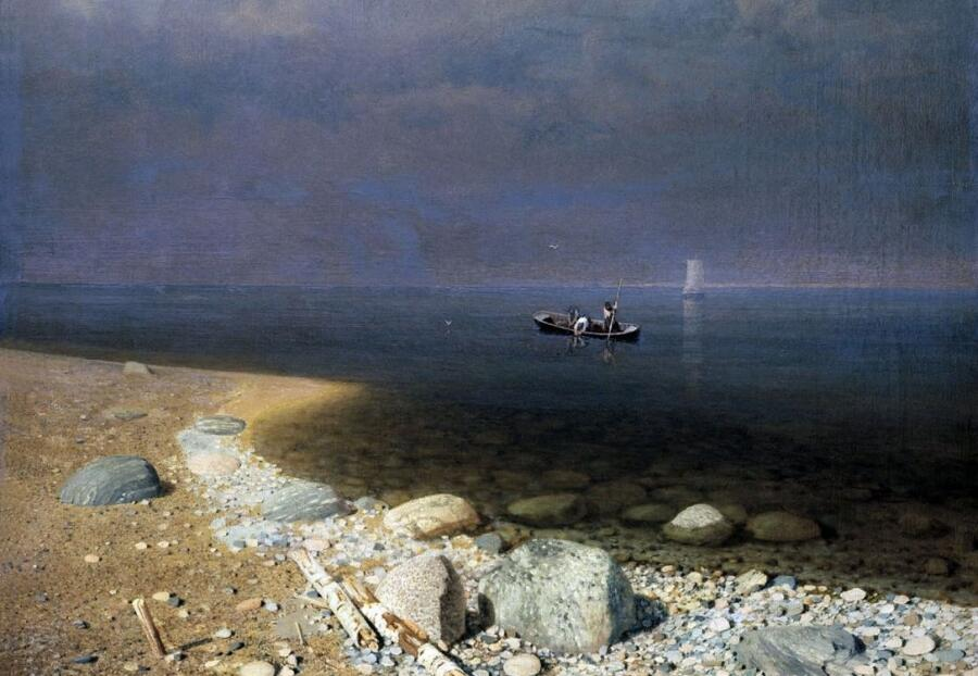 А. И. Куинджи, «Ладожское озеро» (фрагмент), 1873 г.