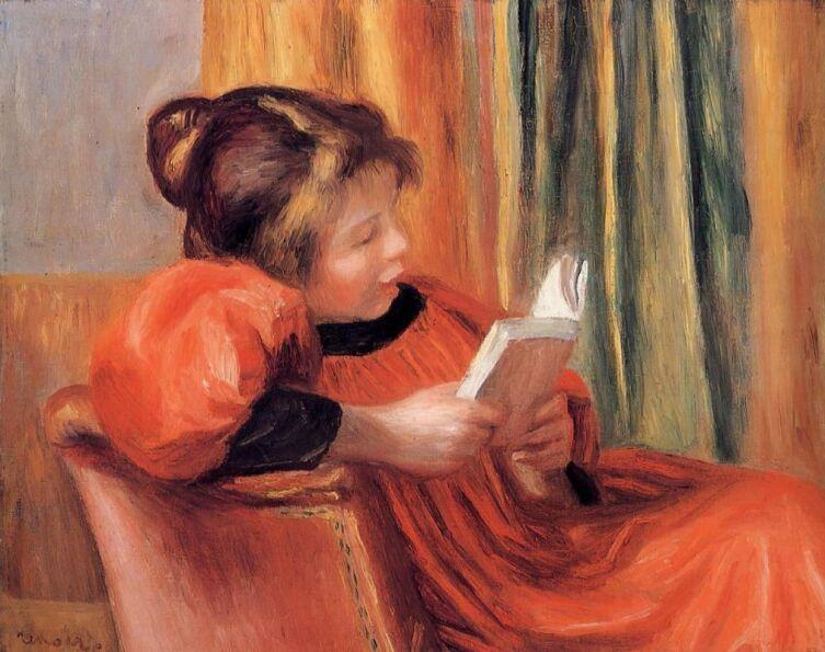 Пьер Огюст Ренуар, «Девушка за чтением», 1890 г.