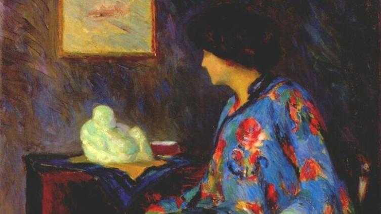 Бернард Гутман, «Дама в жакете из китайского шелка» (фрагмент)