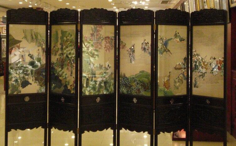 Ширма украшенная сучжоуской вышивкой