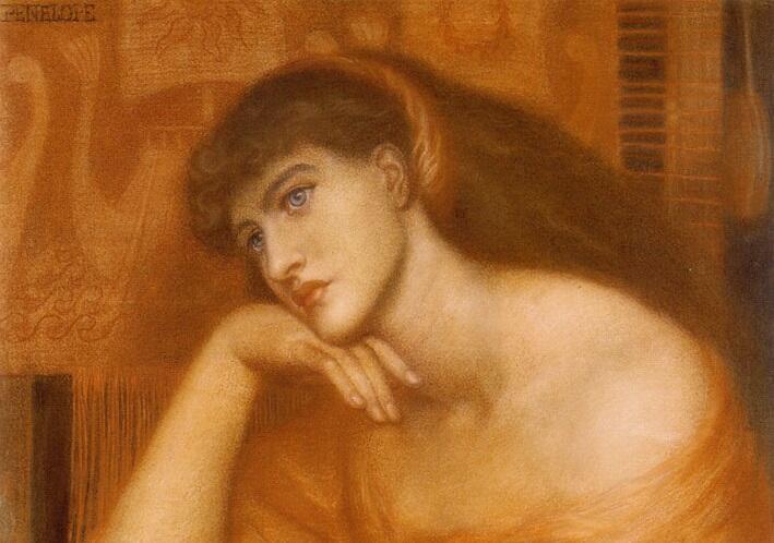 Данте Габриэль Россетти, «Пенелопа» (фрагмент), 1869 г.