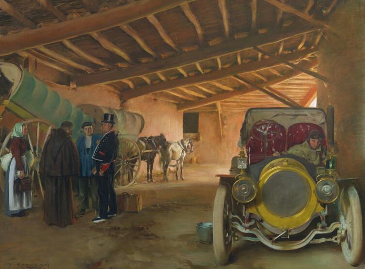 Рамон Касас Карбо, «Испанский гараж», 1907 г.