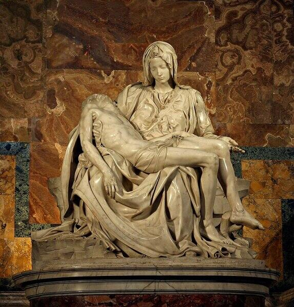 «Оплакивание Христа» — первая и наиболее выдающаяся пьета, созданная Микеланджело Буонарроти