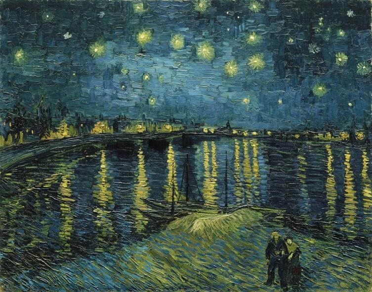 Винсент Ван Гог, «Звездная ночь над Роной», 1888 г.