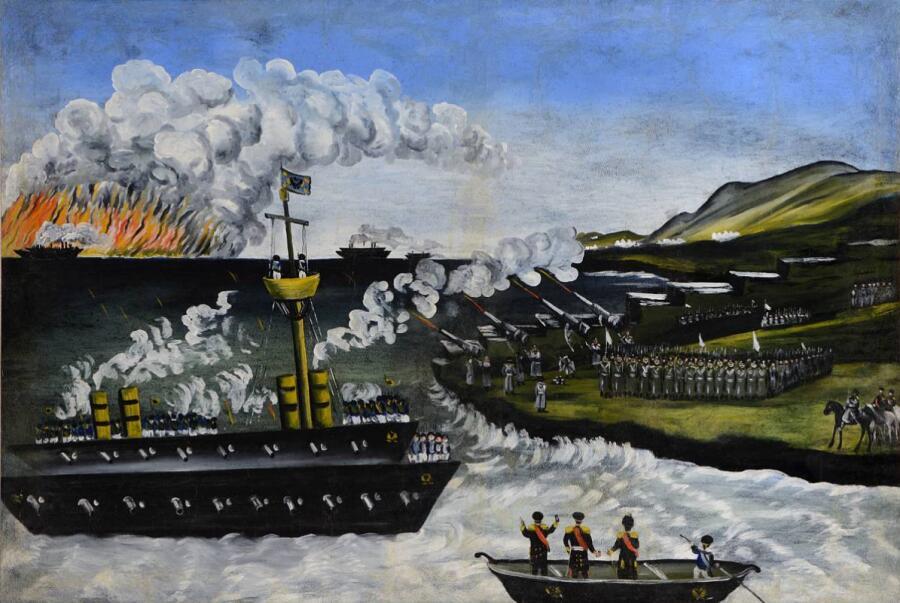 Нико Пиросмани (Пиросманашвили), «Русско-японская война»