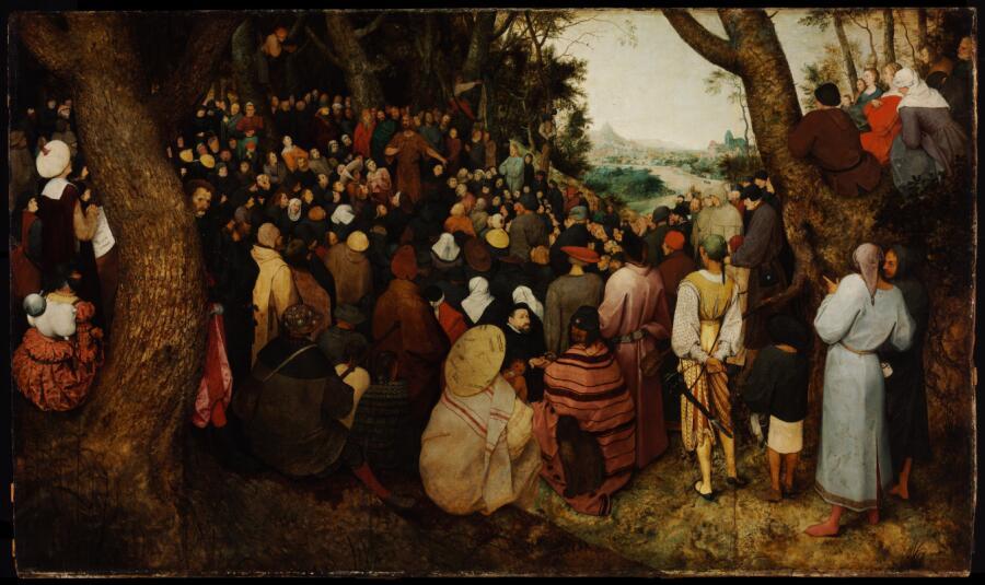 Питер Брейгель Старший, «Проповедь святого Иоанна Крестителя», 1566 г.