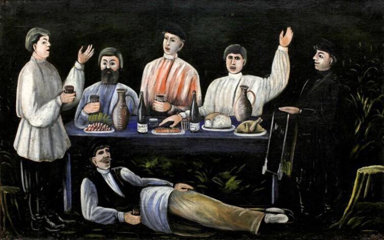 Нико Пиросмани (Пиросманашвили), «Кутеж молокан»