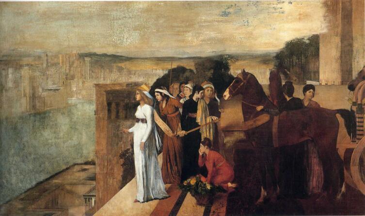 Эдгар Дега, «Семирамида строит Вавилон», 1861 г.