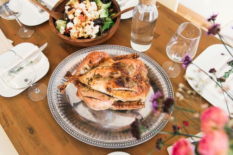 Простой рецепт - курица и соль