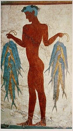 «Рыбак». Минойская фреска с Тиры