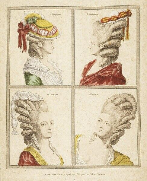 Образцы сложных причесок XVIII века