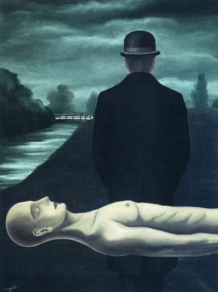 Рене Магритт, «Размышления одинокого ходока», 1926 г.