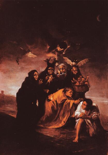 Франсиско Гойя, «Заклинание», 1798 г.