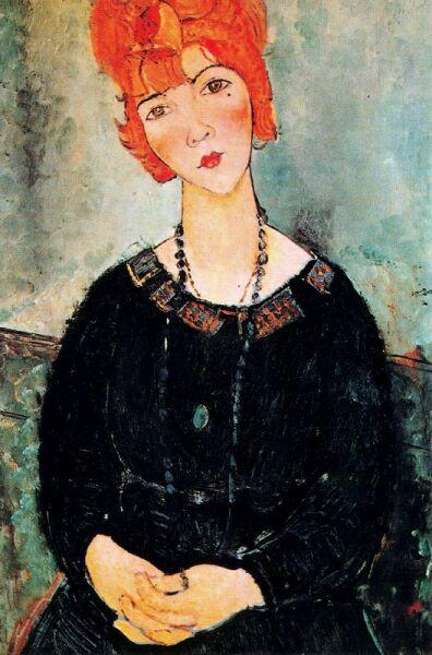 Амедео Модильяни, «Женщина с длинными бусами», 1917 г.