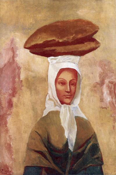 Пабло Пикассо, «Женщина, несущая хлеб», 1906 г.