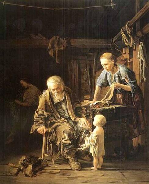 В. И. Якоби, «Светлое Воскресенье нищего», 1860 г.